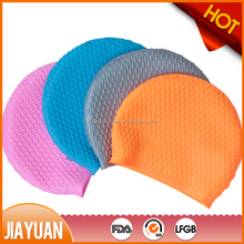 Customized logo printing silicone ear swim cap & funny swimming cap silicone/ wholesale