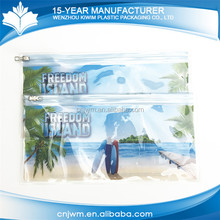Quick delivery waterproof transparent small pvc clear slider lock zip bags