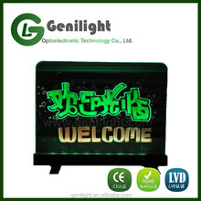 Clear Tempered Glass Flashing Fluorescent Illuminated Erasable LED Message Writing Board Desktop with Remote Control -- 7 Colors