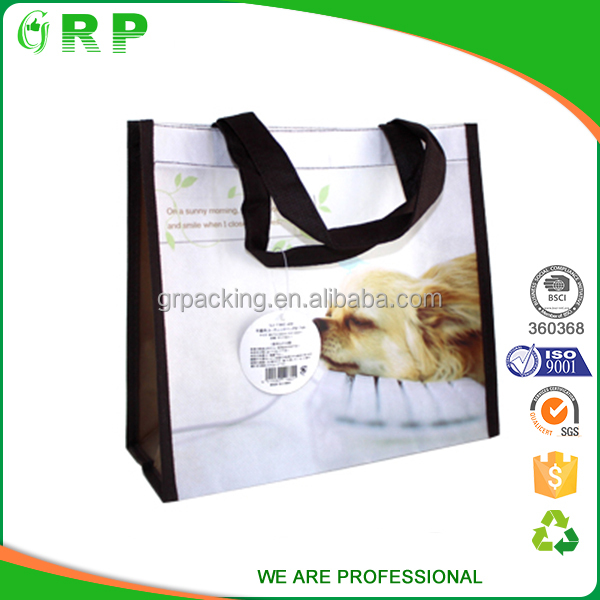 Promotional laminated non woven cheap printed shopping bags