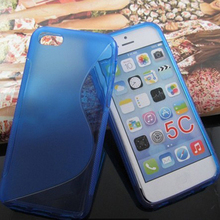 S Line Gel TPU Soft Back Cover For Iphone 5C Case