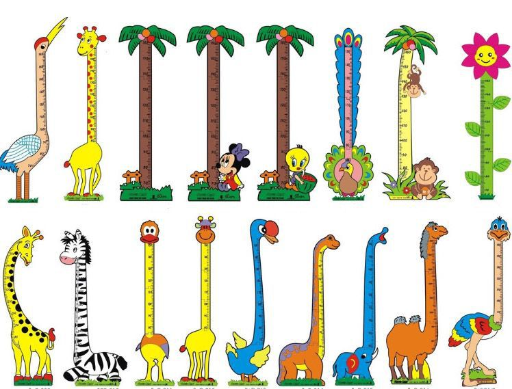 Hot sale kids growth chart ,kids height measurement wall sticker