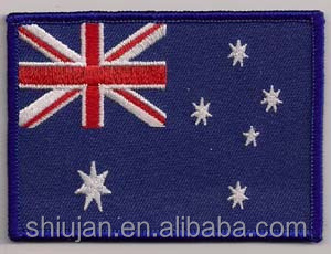 various countrys' embroidered flag patches/badges/applique