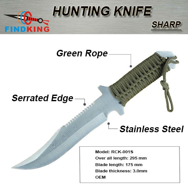 fixed blade stainless steel camping knife
