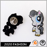 Horse Shape Plastic Silicone badge Button Lapel Pin as Novelty Gifts