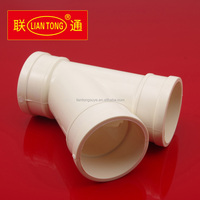 Liantong PVC 45 degree tee for waste water, pvc-u y tee drainage pipe fittings manufacturer