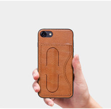 PC TPU shockproof card slot and quicksand phone case