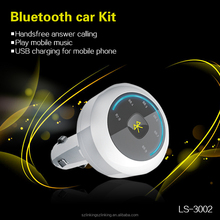 Great Linking Handfree Calling Bluetooth Car Charger support music player, moible charging