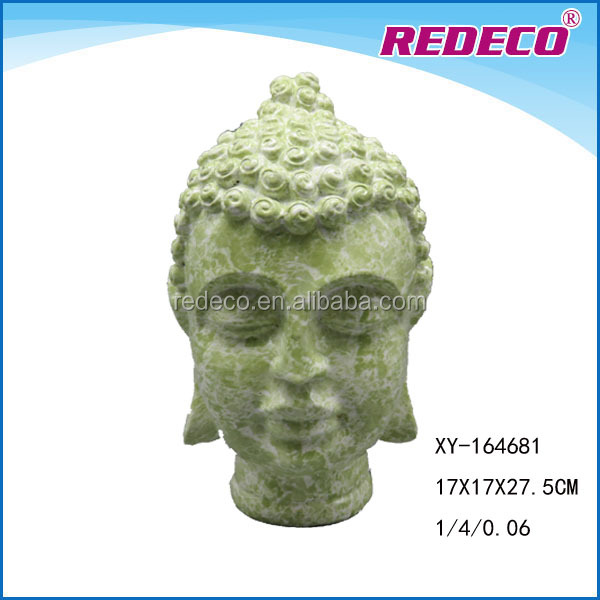 Resin antique buddha head statue