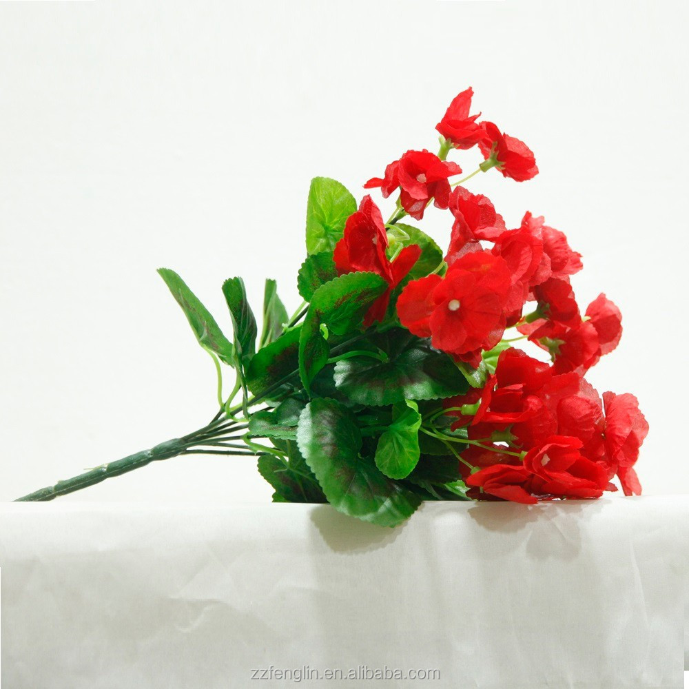 Red Silk Flowers From China For Home Decorative Artificial Flower Wholesale