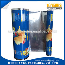 nylon/Pe BOPP/CPP High Barrier Food Packaging Plastic Roll Film For inflatable Cake&Bread&Snack chips