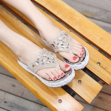 Hot Sale Professional Lower Price rhinestone wedge sandals