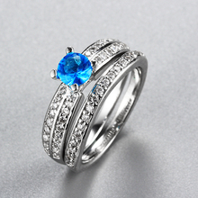 Special custom wedding ring set white gold