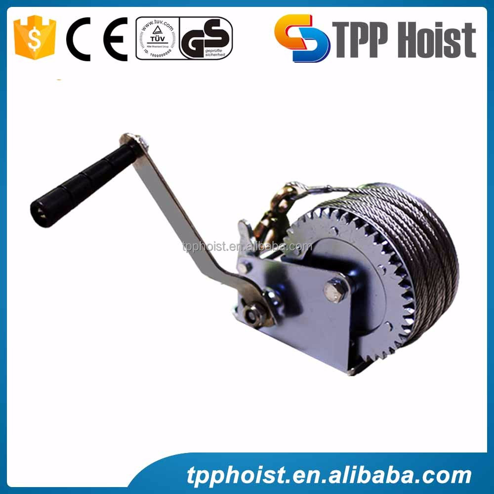 Portable anchor windlass manual hand winch with brake