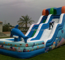 inflatable water slide football with high speed for kids S64