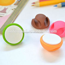 Wholesale 2 slots rubber self adhesive cable clips pda phone accessories