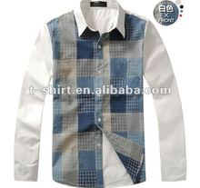 Cotton Printed Long-Sleeves Men Casual Shirt