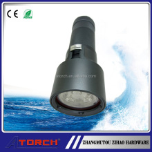 High quality Flashlight 1000 Lumen wide angle diving torch video light