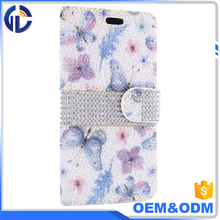For iPhone X Case Luxury Glitter Bling Crystal Diamond PU Leather Wallet Case with Card Slots Cover Shell