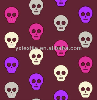 hot sale textile fabric with skulls