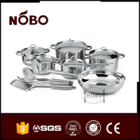 indian style industrial stainless cooking pots with big size