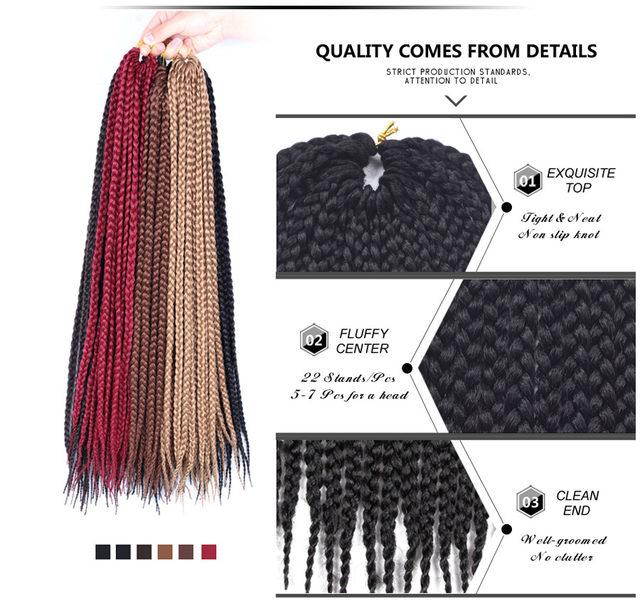 Tienda Online Alileader crochet Box trenzas 12-30 pulgadas corto ...