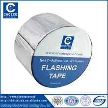Colored PET aluminum film self adhesive bitumen flashing tape for roof sheets