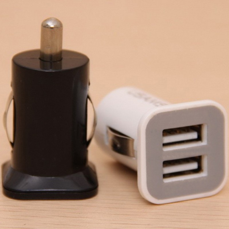 5V 2.1A double usb port car charger for samsung mobile phone