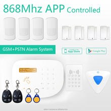 Hi-Q!!home automation alarm system with App Store+Google play APP for wireless GSM alarm host!