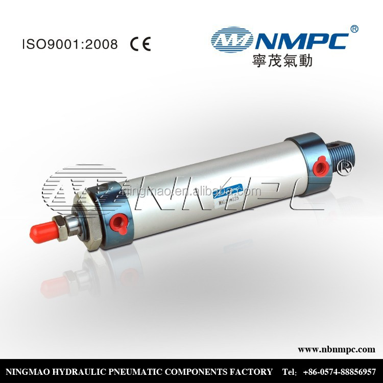 electro pneumatic cylinder Aluminum body MAL 25*50 adjustable Nonstandard size Customized