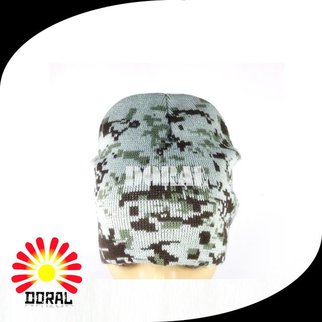 Winter Camouflage Pattern Beanie Hat Wholesale Design Your Own Logo Beanie