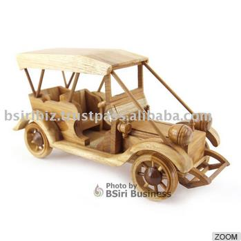 High Quality Wooden decoration vintage car model