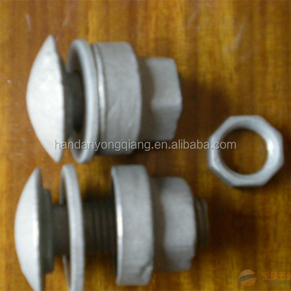 Galvanized Steel Highway Guardrail bolt nut and washer grade 4.8/6.8/8.8/12.9