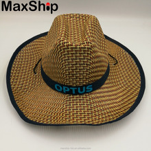 Fedora cowboy straw hat with printing logo
