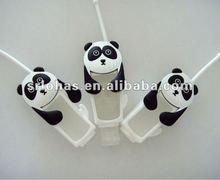 cute panda 3d silicone santizer holder for gift