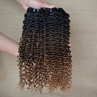 Peerless Hair Company For Three Tone Bundles Cambodian Kinky Curly Hair Weaves
