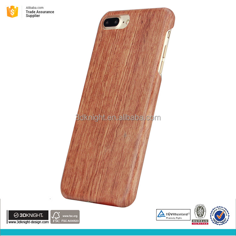 Customized Phone Case For iPhone 7 plus, For iPhone 7 plus Real Texture Wood Style Case