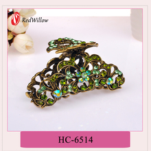 Wholesale Pave Setting small colored hair claw