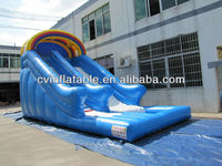 commercial inflatable big / small customized wet dry water slide for kids and adults for sale