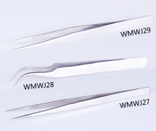 Wholesale the top quality thinand sharp stainless steel tip straight eyelash tweezer