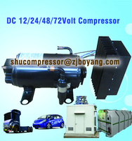 12v dc air conditioner compressor for electric vehicle heavy duty truck cabin ship grab forklift electric-vehicle Telecom