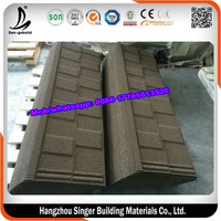Coffee Brown/black/ Red/Blue Stone Coated Roofing Tile To Africa Market