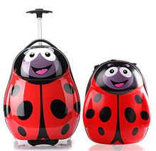 kids abs+pc trolley school luggage shcool bag
