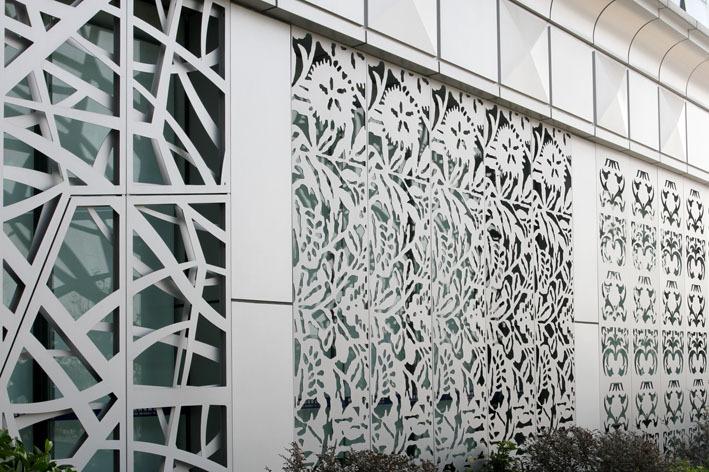 hoteles de lujo decorativo tallado panel de aluminio paneles decorativos de pared