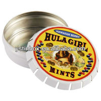 Fancy wholesale custom round metal tin cans mint storage