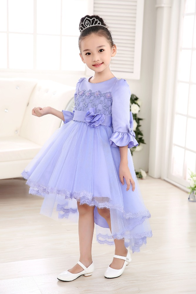 new design baby girls trailing party dress wedding dress for kids wear