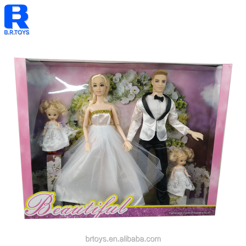 Best Gift deluxe wedding couple doll set with 2 dolls