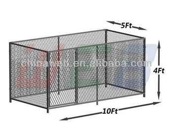10' x 5' x 4' expanded metal dog kennels