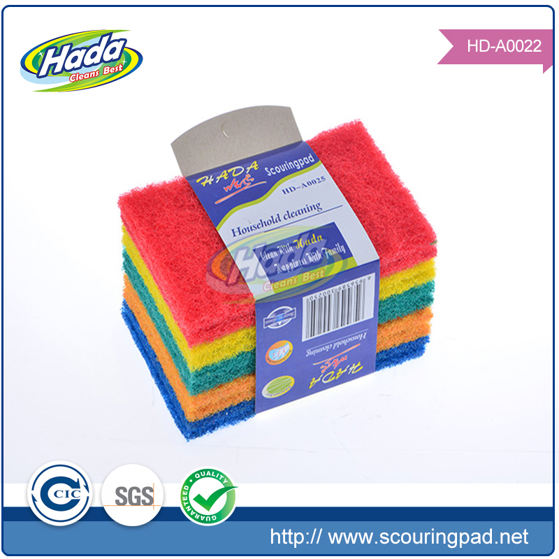 Strong cleaning capacity square nylon washing yarn for scouring pad rolls