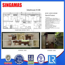 40hc Concrete Low Cost Container House For Sale